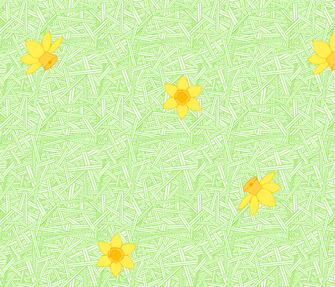 Falling Daffodils fabric by leighr on Spoonflower - custom fabric