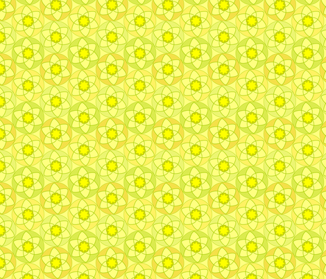 Circle Daffodils fabric by andrea_kopacek on Spoonflower - custom fabric