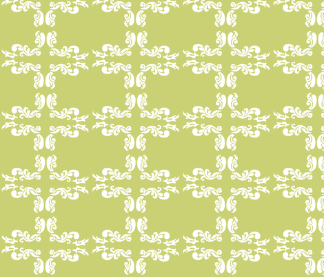 Lime Damask fabric by thehandmadehome on Spoonflower - custom fabric