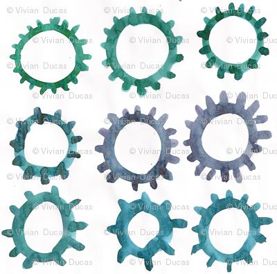 C'EST LA VIV™ Circles and Squares Collection_BLUE SUN SPOTS