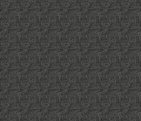 Keep it Hid (Grey & Black) fabric by leighr on Spoonflower - custom fabric