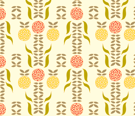 dahlia_white fabric by holli_zollinger on Spoonflower - custom fabric