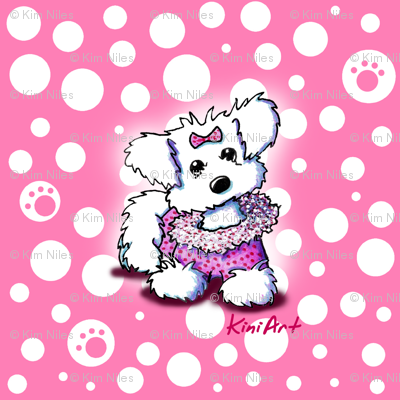 Maltese Fashion Princess On Pink