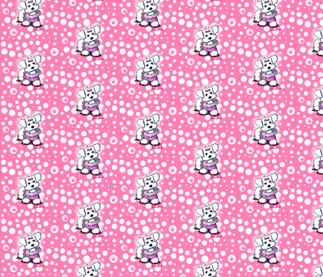 Maltese Fashion Princess On Pink fabric by kiniart on Spoonflower - custom fabric