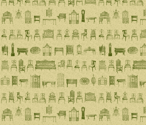 Furniture Lineup Green fabric by dentednj on Spoonflower - custom fabric