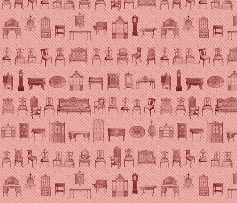 Furniture Lineup Red fabric by dentednj on Spoonflower - custom fabric