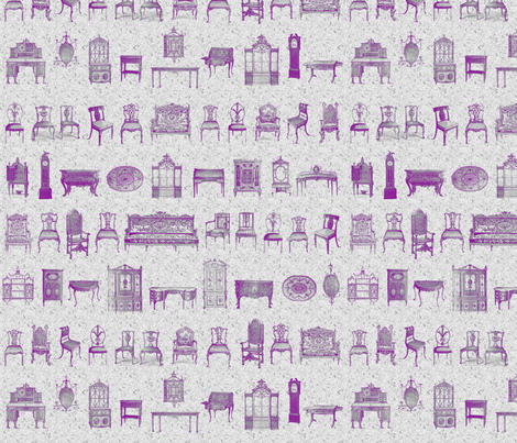 Furniture Lineup in Purple & Gray fabric by dentednj on Spoonflower - custom fabric