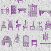 Furniture Lineup in Purple & Gray