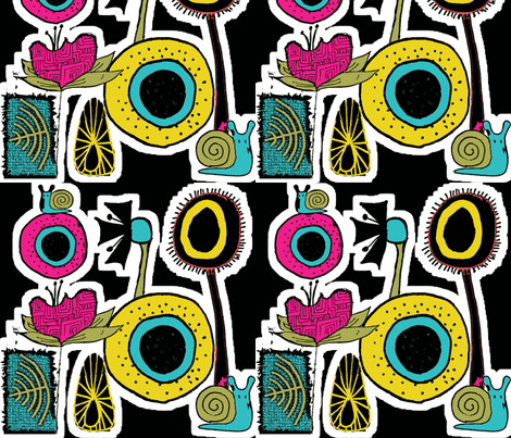 dirtysnailsanddaffodils fabric by sbd on Spoonflower - custom fabric