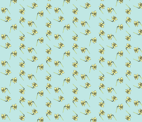 påskelilje fabric by lille_my on Spoonflower - custom fabric