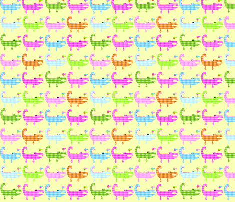 Argyle ALligators - sassy colorway fabric by petunias on Spoonflower - custom fabric