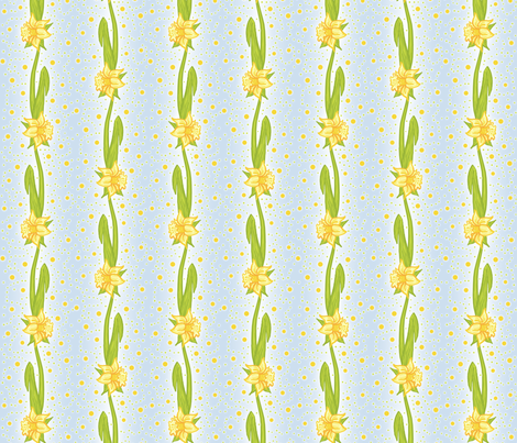 Daffodil Stripe fabric by ophelia on Spoonflower - custom fabric