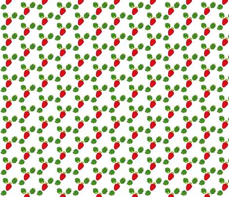 Strawberry fabric by syko on Spoonflower - custom fabric