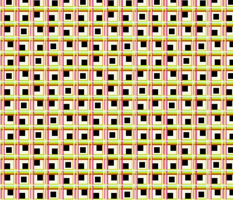 Walking Fish pattern 4 black check fabric by vickijenkinsart on Spoonflower - custom fabric