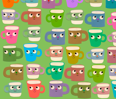 rainbow mugs fabric by heidikenney on Spoonflower - custom fabric