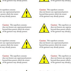 superhero warning labels