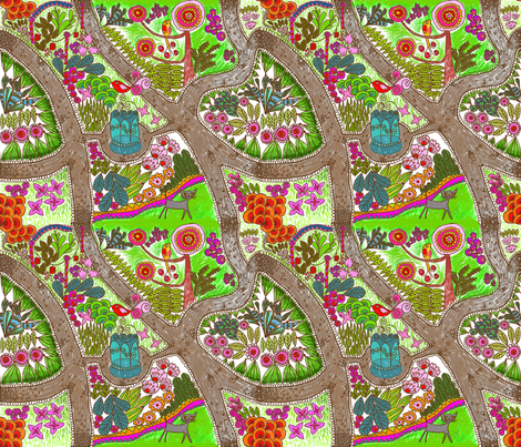 jardin_extraordinaire fabric by nadja_petremand on Spoonflower - custom fabric