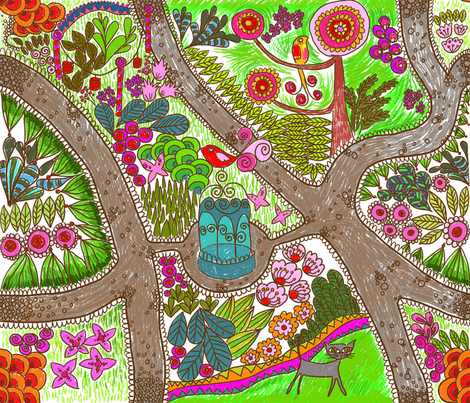 jardin_extraordinaire_copie fabric by nadja_petremand on Spoonflower - custom fabric
