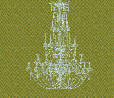 Chandelier Green Flame 22x22 fabric by dentednj on Spoonflower - custom fabric