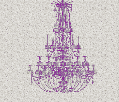 Chandelier 22x22 fabric by dentednj on Spoonflower - custom fabric