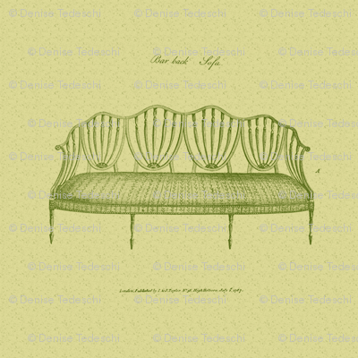 18th Century Sofa 22x22