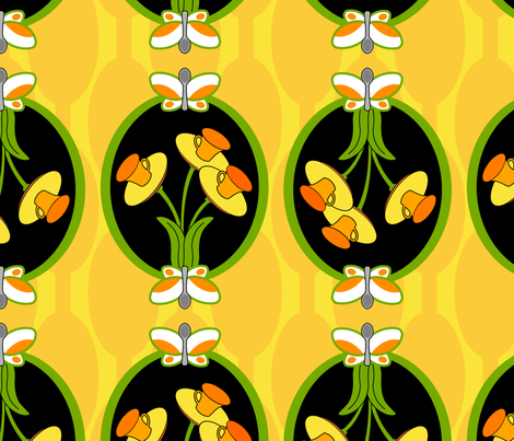daffodil tea fabric by thirdhalfstudios on Spoonflower - custom fabric