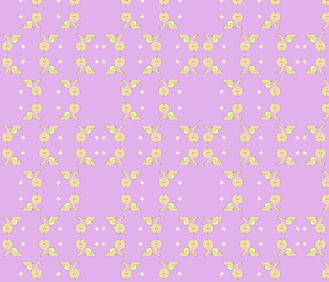 Retro Baby Pink fabric by aleinoodleknits on Spoonflower - custom fabric