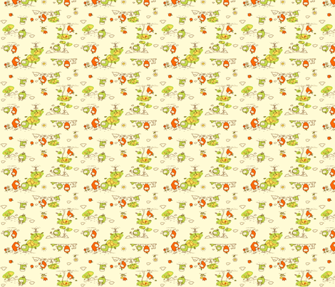 apples in love fabric by kukubee on Spoonflower - custom fabric