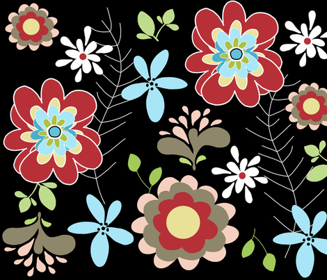 spring night fabric by emilyb123 on Spoonflower - custom fabric