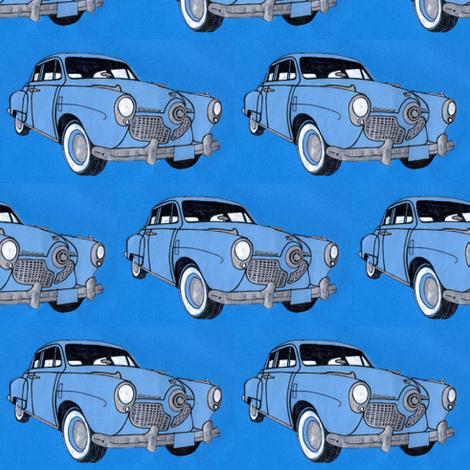 1951 bulletnose Studebaker fabric by edsel2084 on Spoonflower - custom fabric