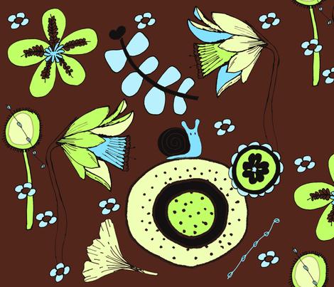 daffodillz_bak fabric by sbd on Spoonflower - custom fabric