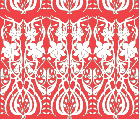 daffodil_red fabric by holli_zollinger on Spoonflower - custom fabric