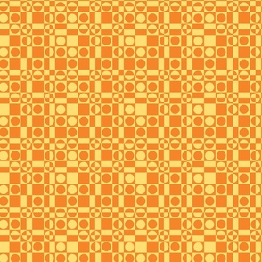 Checks Gone Wild Two-Tone Orange