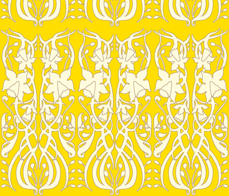 daffodil_yellow fabric by holli_zollinger on Spoonflower - custom fabric