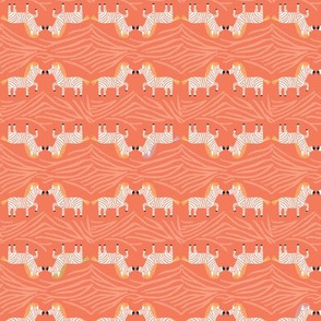 Safari Sweet Red Geometric Zebra