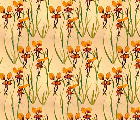 Pansy Orchids fabric by helenklebesadel on Spoonflower - custom fabric