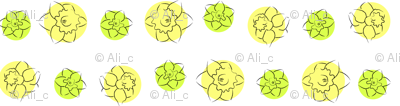 daffodil dots yellow green