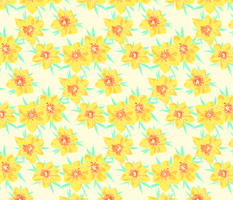 jonquilles fabric by thelazygiraffe on Spoonflower - custom fabric