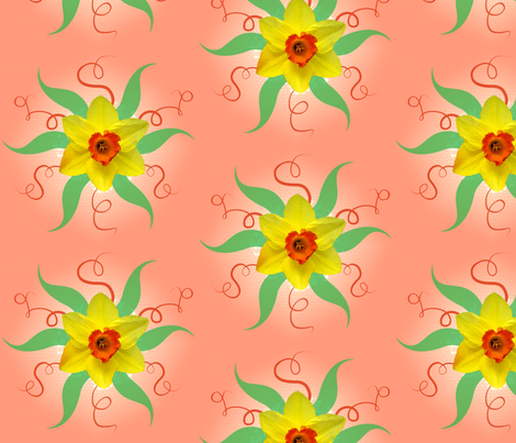 daffodils fabric by nicholeann on Spoonflower - custom fabric