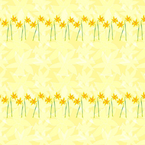 Daffodils in a row.  Copyright LdJ design 2010