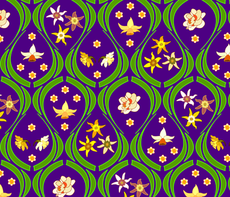 Garden fabric by andrea11 on Spoonflower - custom fabric