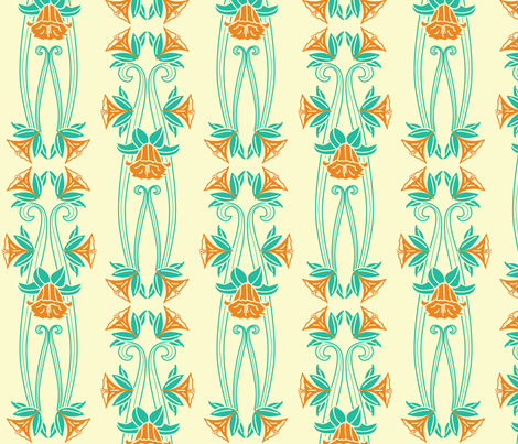 Arts and Crafts Daffodils fabric by designmagi on Spoonflower - custom fabric