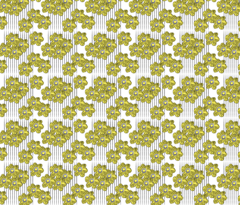 LINES & DAISIES fabric by heatherrothstyle on Spoonflower - custom fabric