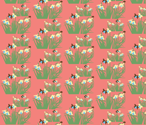Daffodils fabric by malien00 on Spoonflower - custom fabric