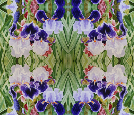 Iris_005 fabric by jlcookaz on Spoonflower - custom fabric