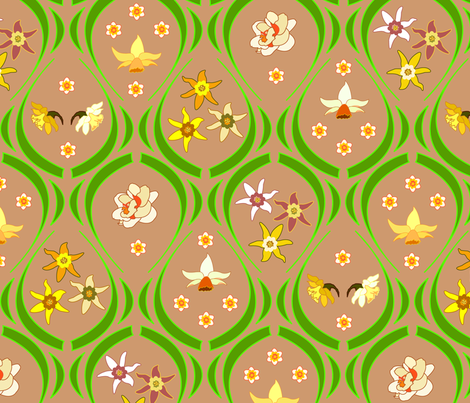 Daffodil_Garden3 fabric by andrea11 on Spoonflower - custom fabric