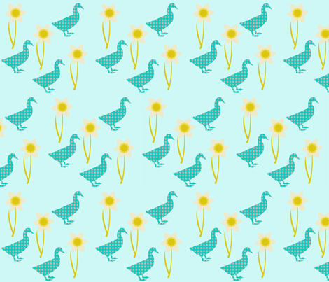 daffodil_duck fabric by mytinystar on Spoonflower - custom fabric