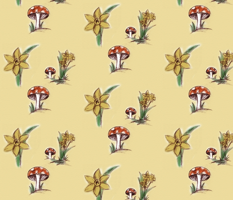 SpringDaffodils fabric by eowens on Spoonflower - custom fabric