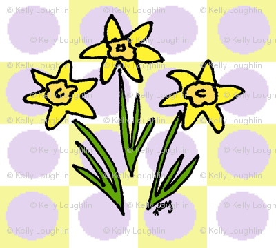 My Three Daffodils Lavender