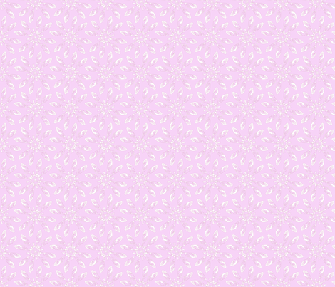 Seedflower Pink fabric by maeula on Spoonflower - custom fabric